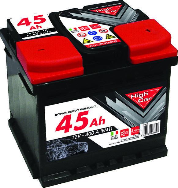 BATTERIA AUTO HIGH CAR 45 AH